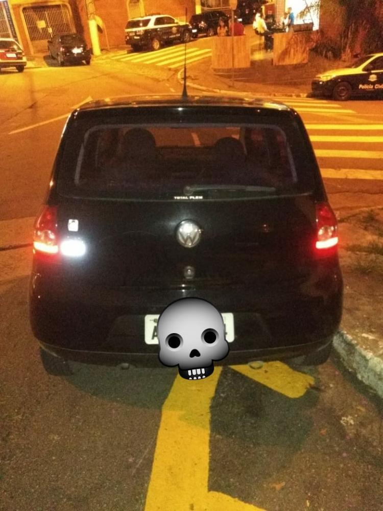 Veículo que estava em posse do indivíduo e devolvido ao legítimo proprietário - Imagem: Polícia Militar